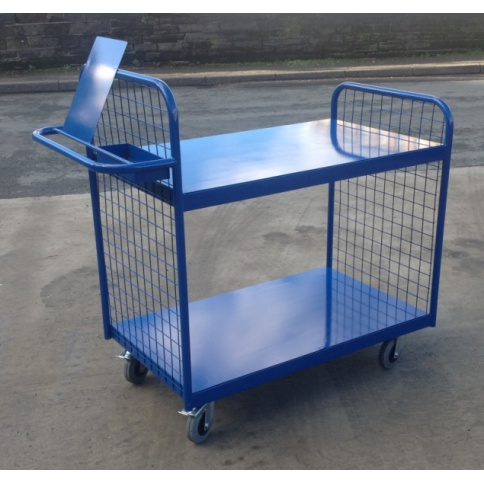 OPT102/S - Order Picking Trolley, Steel Shelves