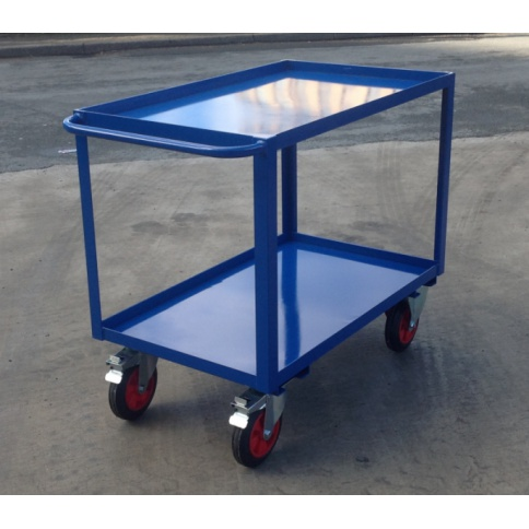 TTC1/SL:  Table Top Cart, 1000 x 600 mm, Steel Shelves with Lip