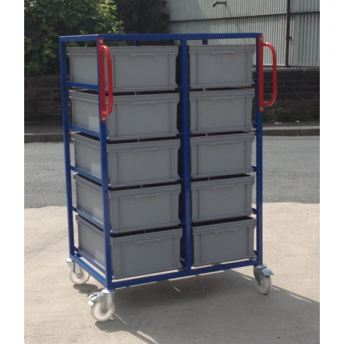 EC03 - Double Stack Euro Container Trolley 1375 mm High
