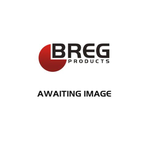 200 mm Blue Elastic Rubber Swivel Braked Castor