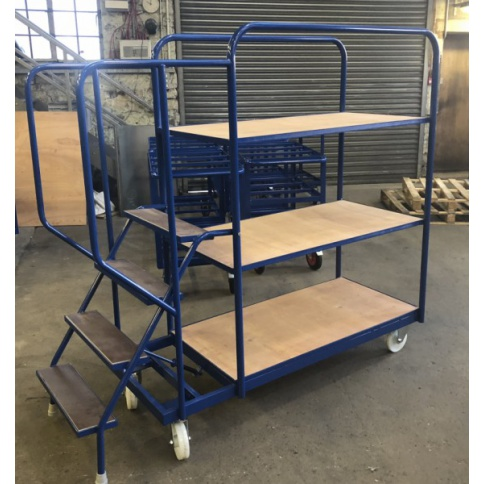 SOPT05 - Heavy Duty Stepped Picking Trolley, 4 Step, 4 Tier