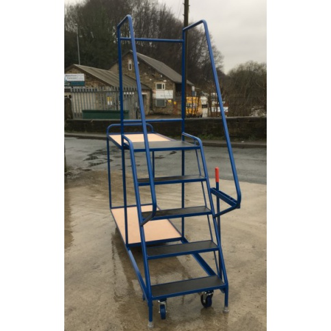 SOPT07 - Heavy Duty Stepped Picking Trolley, 5 Step, 2 Tier