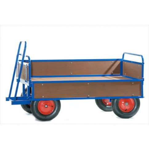 BTT2/T - Turntable Truck, 1220 x 700 mm, with Wooden Sides