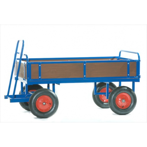 BTT3/T - 1500 x 800 mm Pneumatic Turntable Truck with 250mm Wood