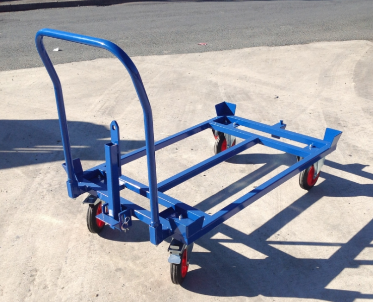PD1000TH: Pallet Dolly 1220 x 1000 mm, Towable with Push Handle