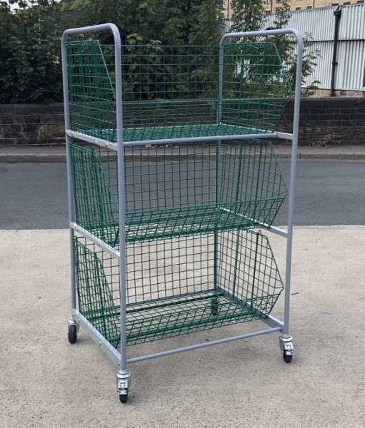 WCT3 - Wire Basket Trolley 3 Baskets size 980 x 680 x 480 mm