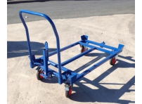 PD1000TH: Pallet Dolly 1200 x 1000 mm, Towable with Push Handle