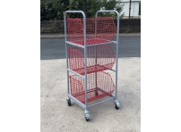 WCT1 - Wire Basket Trolley 3 Baskets size 600 x 460 x 350 mm