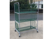 WCT4 - Wire Basket Trolley 3 Baskets size 1220 x 680 x 480 mm