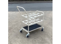 MGCT02 - Medical Cylinder Trolley for 8 x F size Oxygen Cylinder