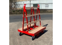 LGWT0 - Liftable A Frame Glass Trolley 1200 x 1000 x 1500mm
