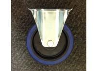 200 MM BLUE ELASTIC RUBBER FIXED CASTOR