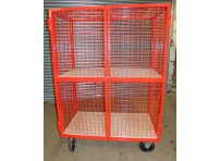MST01 Lockable Mesh Trolley, 2 Shelf
