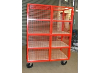 MST03 - Lockable Mesh Trolley, 4 Shelf