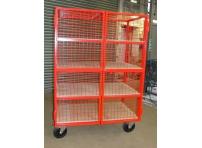 MST03 - Lockable Mesh Trolley, 4 Shelf