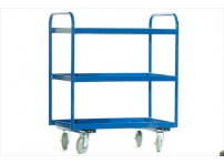 TRT13 -  3 Tier Tray Trolley, Steel Top, 800 x 500 mm