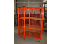 MST02 - Lockable Mesh Trolley, 3 Shelf