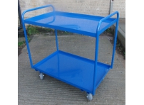 TRT12 - 2 Tier Tray Trolley, Steel Top, 1000 x 610 mm