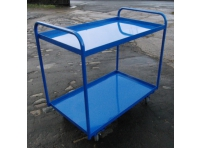 TRT11 - 2 Tier Tray Trolley, Steel Top, 800 x 500 mm