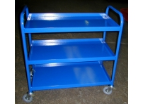 TRT14 - 3 Tier Tray Trolley, Steel Top, 1000 x 610 mm